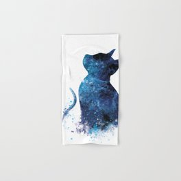 Blue Cat Hand & Bath Towel