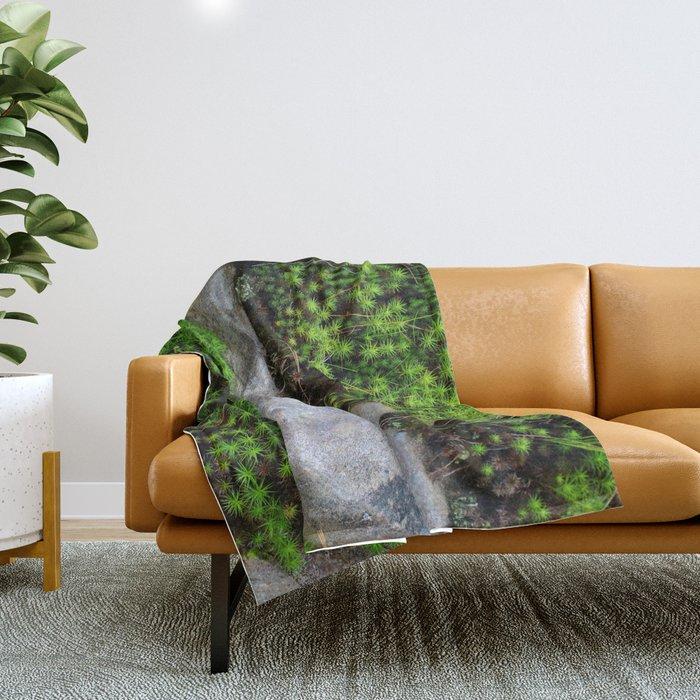 Vibrant Moss Throw Blanket