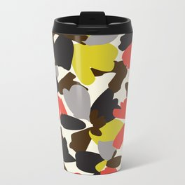 mod floral Metal Travel Mug
