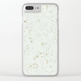 Green Natures Gold Marble Clear iPhone Case