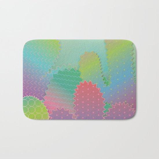 Colorful Summer Cacti Garden Bath Mat