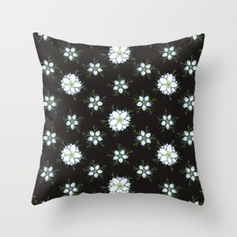 Nigella - Love in the Mist Throw Pillow