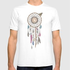Lakota (Dream Catcher) Mens Fitted Tee White MEDIUM