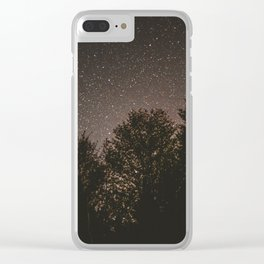 Stars in Forest Clear iPhone Case