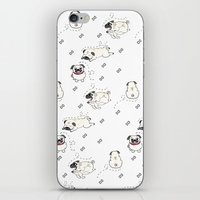 pugs iPhone & iPod Skins featuring Pugs by Alisse Ferrari