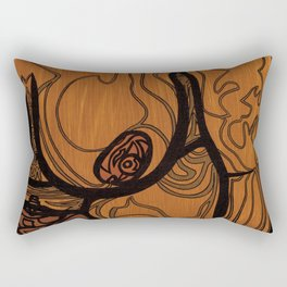"""Layla (Right Half of Diptych)"" Rectangular Pillow"