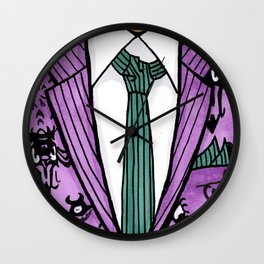 Haunted Suit Wall Clock