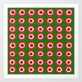 Christmas Evil Eye Art Print