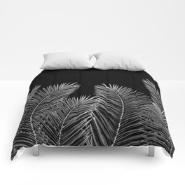 Dark Palm Skies Comforters