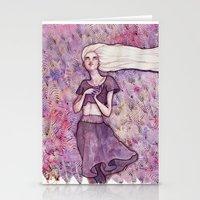 daenerys targaryen Stationery Cards featuring Waiting by Verismaya