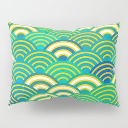 abstract scales simple Spring Nature background with japanese circle Pillow Sham