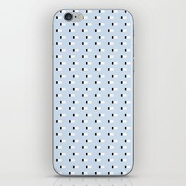 Minimal Squares - Steel Blue iPhone Skin