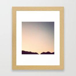 Life goes Framed Art Print