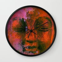 meditation Wall Clocks featuring Meditation by zAcheR-fineT
