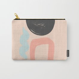 Peach and Blue Dreams Carry-All Pouch