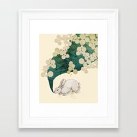 spring Framed Art Prints featuring spring by Laura Graves