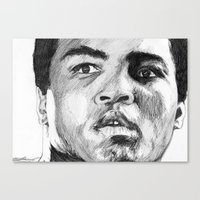 ali gulec Canvas Prints featuring Ali by DeMoose_Art