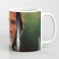 sam winchester Mugs featuring Sam Winchester from Supernatural by Annike