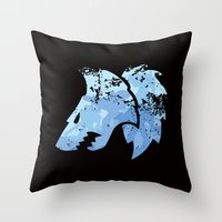 warhammer Throw Pillows featuring Wolves on the horizon by HenkusFilijokus