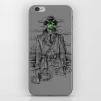 magritte iPhone & iPod Skins featuring Magritte Noir by Peter Kramar
