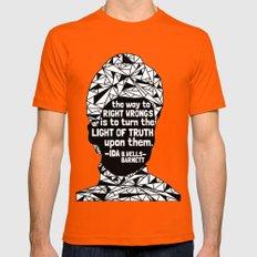 Ida B. Wells-Barnett - Black Lives Matter - Series - Black Voices X-LARGE Orange Mens Fitted Tee