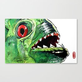 Piraña Canvas Print