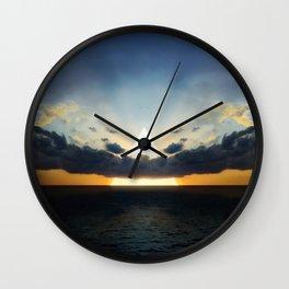 Abstract Environment 03: Volcano Wall Clock