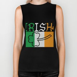 Irish Flag Vintage St Patricks Day Biker Tank