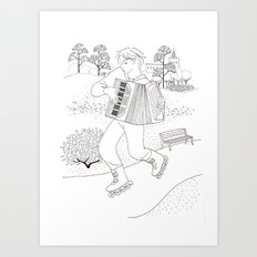 the accordeonist Art Print