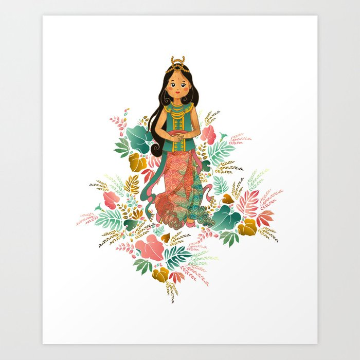 The Sundanese Goddess of Rice and Prosperity Art Print