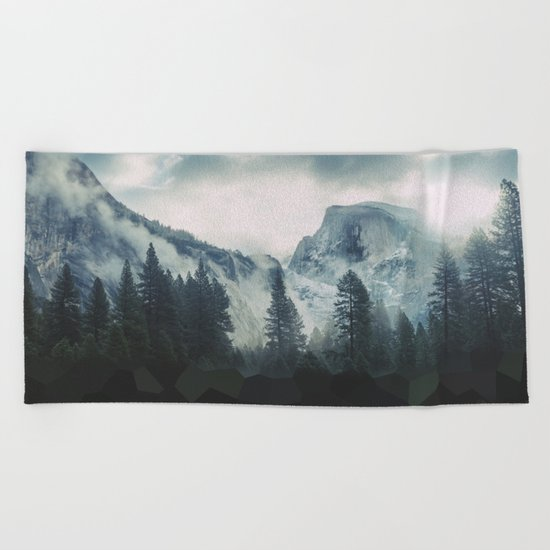 Cross Mountains Beach Towel