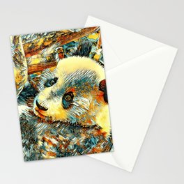 AnimalArt_Panda_20180102_by_JAMColors Stationery Cards
