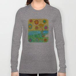 hang 10 groovy surf dude flower power Long Sleeve T-shirt