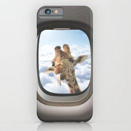 Funny Giraffe - Window Seat  iPhone Case