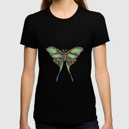 Steampunk Green Luna Moth T-shirt
