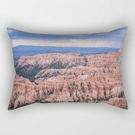Sunset over Hoodoos - Bryce Canyon National Park, Rocky Natural Landscape, Utah Hiking Photography Rectangular Pillow