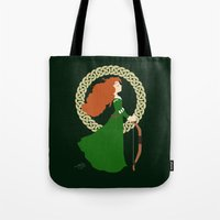 merida Tote Bags featuring Merida  by Cantabile