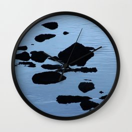 Rocky Seashore Evening Seascape Wall Clock