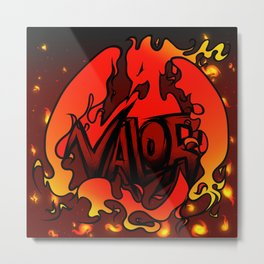 Team Valor Tag Art Metal Print