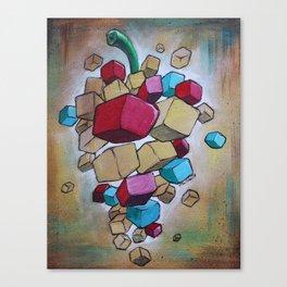 Cubist Grapes V2 Canvas Print