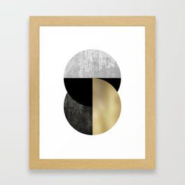 Moon Phase, Mid Century Modern,Scandinavian Abstract Framed Art Print