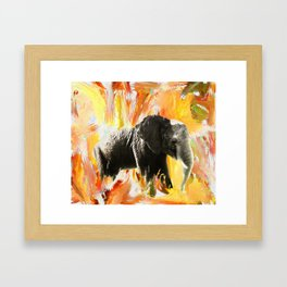 African Elephant - Happy Trails Framed Art Print