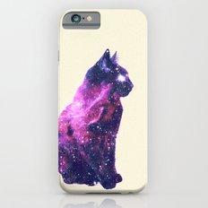 Whimsical Purple Nebula Cat Pink Galaxy Stars Slim Case iPhone 6s