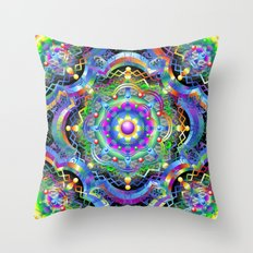 Mandala Psychedelic Art Design Throw Pillow