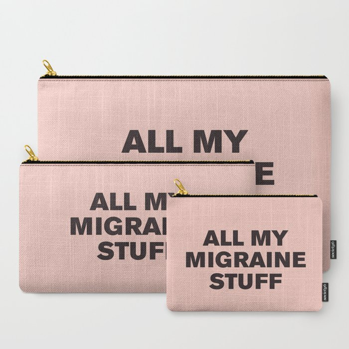 All_My_Migraine_Stufftm_Black_on_Pink_CarryAll_Pouch_by_Casualty_Girl__Set_of_3