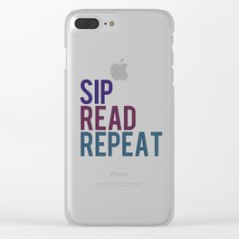 Sip, Read, Repeat Clear iPhone Case