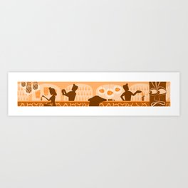 The Tiki Bar in Orange Art Print