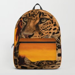 Leopard and Sunset Backpack