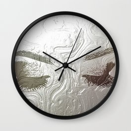 Silver and lashed glam Wall Clock