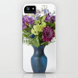 Floral Blue Vase iPhone Case